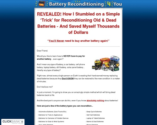How To Recondition Dead Batteries
