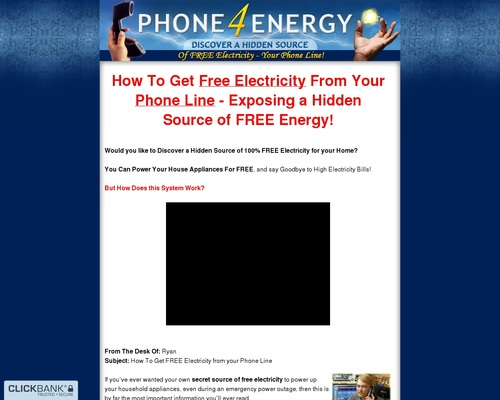 Discover a Hidden Source of Free Electricity  Your Landline Phone Line!